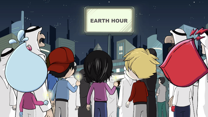 DEWA - Comic Book - Earth Hour